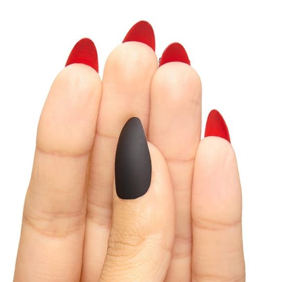 Empress Tips Makeup | Loubies Matte Black Stiletto Nails | Poshmark